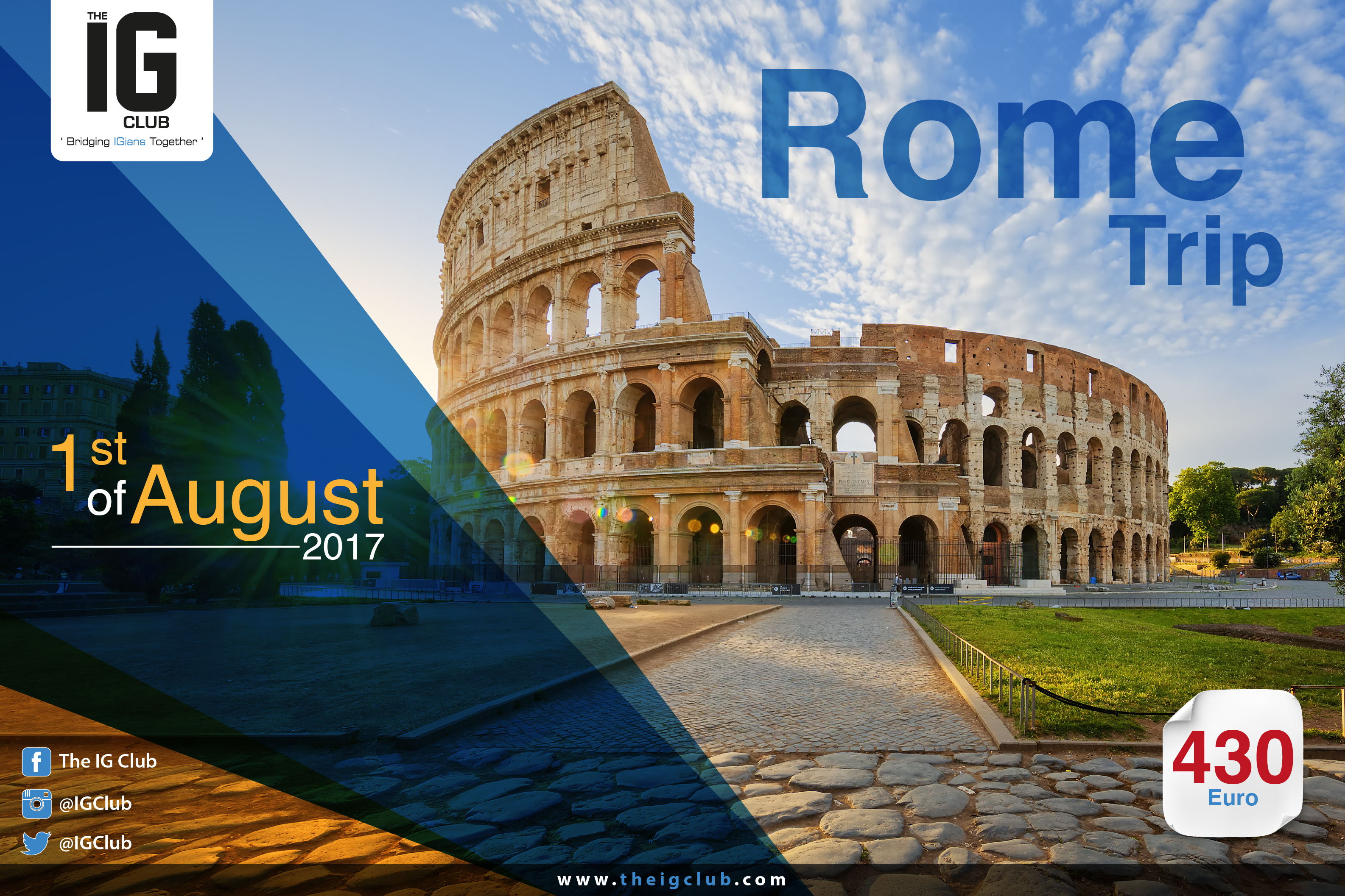 The IG Club trip to ROME - Summer 2017